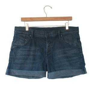 Citizens of Humanity Gray Denim Rolled Hem Shorts